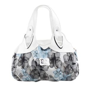 Image 4 - FGGS modna torebka kobiety PU skórzane torby dużego ciężaru torba torba drukowanie torebki Satchel sen szafranowy + biały pasek na rękę