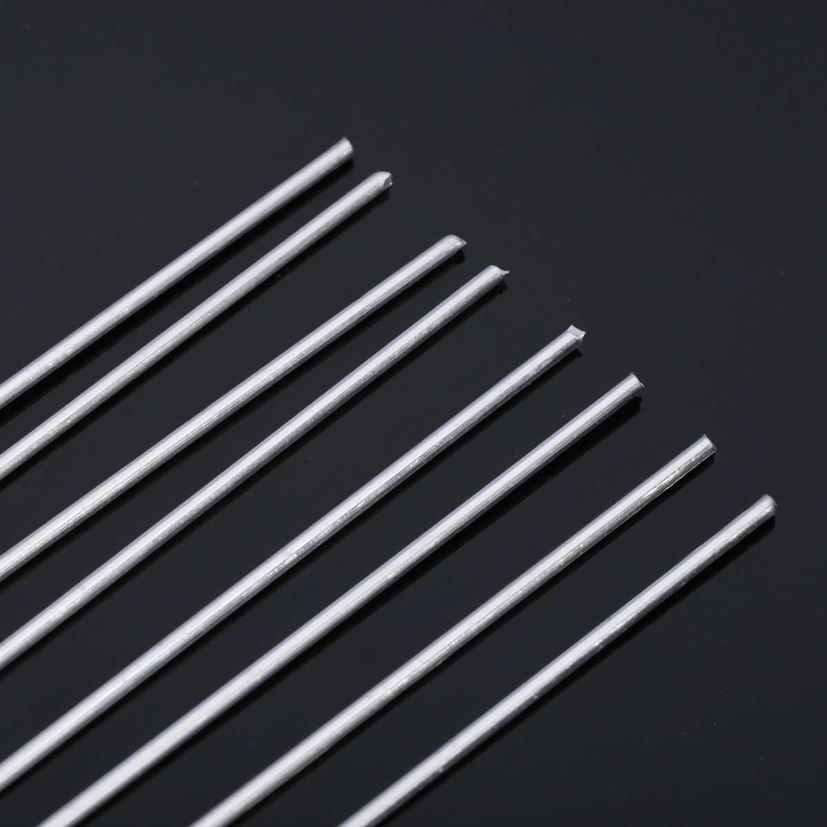 8 pcs Hastes de Soldadura de Soldadura Da Liga de Alumínio de Baixa Temperatura 2mm x 230mm Prata Para Solda Tig