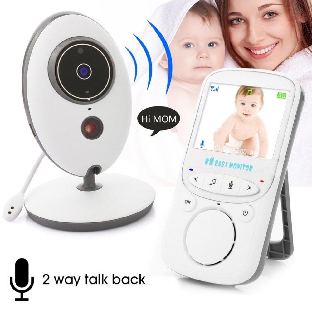 2 4 Inch LCD Audio Video Baby Monitor Radio Nanny Music Intercom IR Portable Wireless Baby
