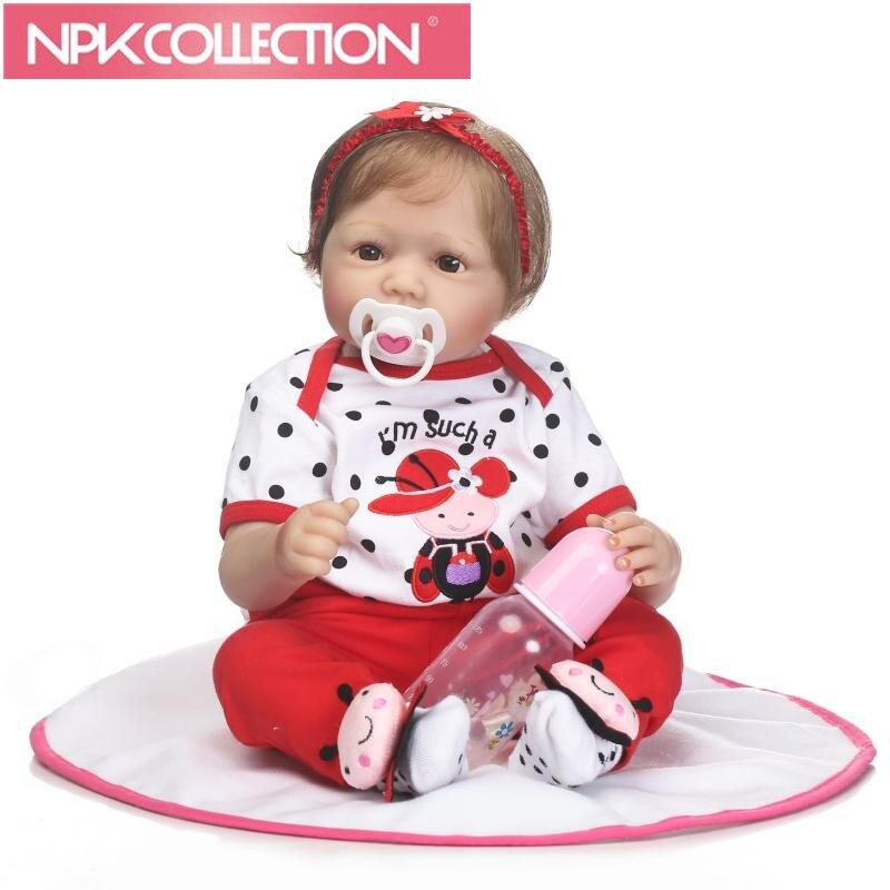 22 Inch 55CM Doll Reborn Babies Silicone Vinyl Dolls Handmade Realistic Lovely Baby Reborn Toy Doll Baby Bonecas Birthday Gift