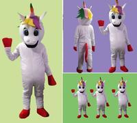 Лошадь Pnoy талисмана взрослых Размеры Единорог талисмана Высокое качество день рождения костюм