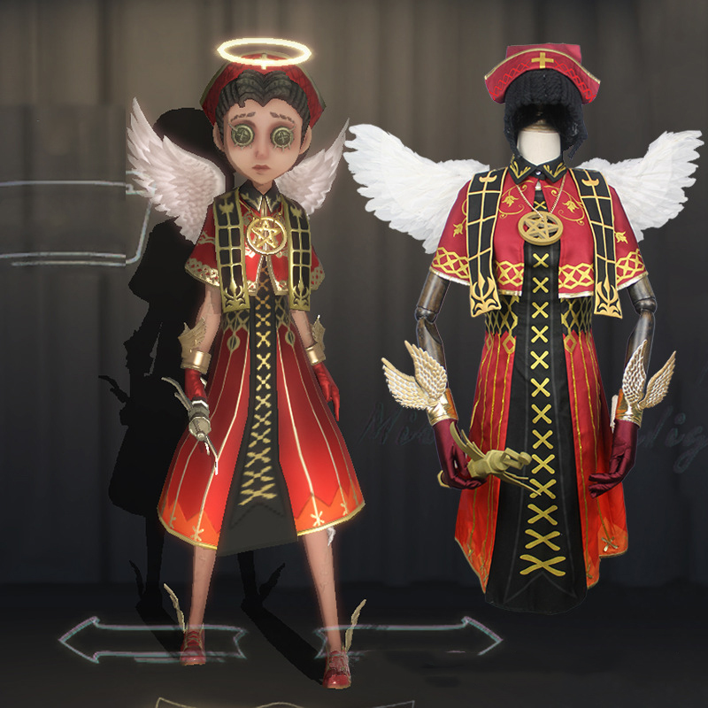 US $8 99 |Game Identity V Cosplay Costume Doctor Emily Dyer Holy Angel Red  Uniform Cosplay Halloween Carnival Party Cosplay Costumes-in Game Costumes