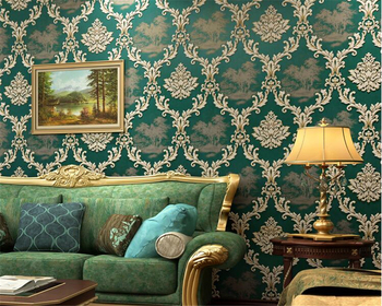 beibehang European style retro fashion classic wallpaper personalized bedroom living room TV background wallpaper for walls 3 d
