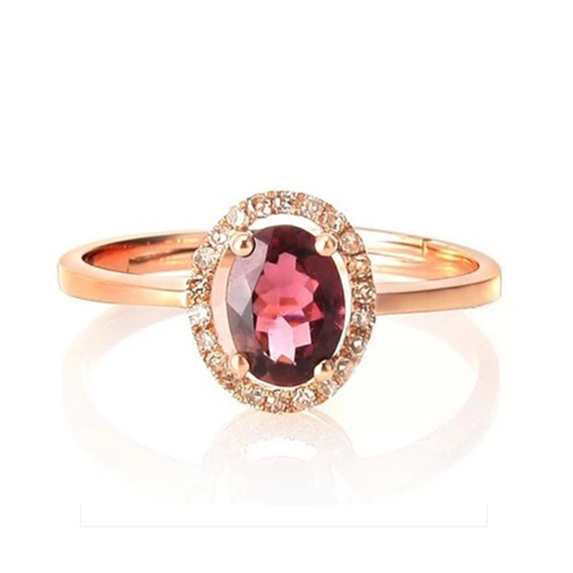 Stylish women crystal ring natural 100% red garnet ring pure solid 925 sterling silver wedding ring promotion jewelry girl gift