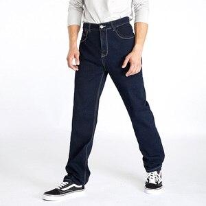 Image 4 - Drizzte สูงเอวหลวมตรง Mens ยืดกางเกงยีนส์กางเกงยีนส์สีฟ้ากางเกงแบรนด์ใหญ่และสูงกางเกงยีนส์สำหรับ big Man