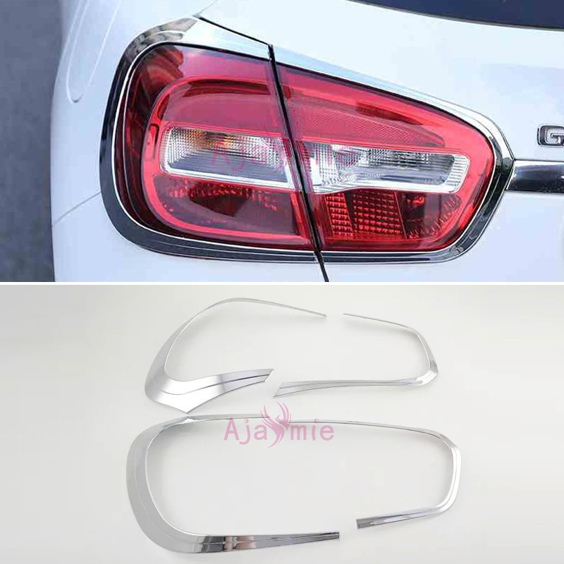 Car Styling Chrome Taillight Cover Trim Overlay Frame 2014 2016 For Mercedes Benz GLA X156 Accessories