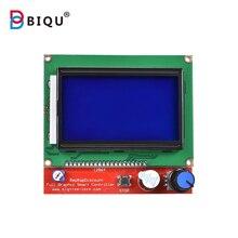 BIQU 12864 LCD scree Akıllı Parçaları için RAMPALARI 1.4 Denetleyici Kontrol Paneli LCD 12864 Ekran Monitör Anakart Mavi Ekran