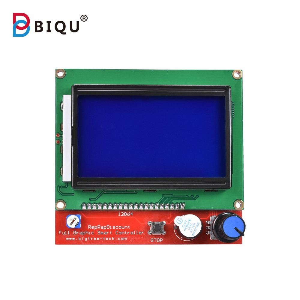 BIQU 3D Printer12864 Lcd scree Smart Parts RAMPS 1.4 Controller Control Panel LCD 12864 Display Monitor Motherboard Blue Screen