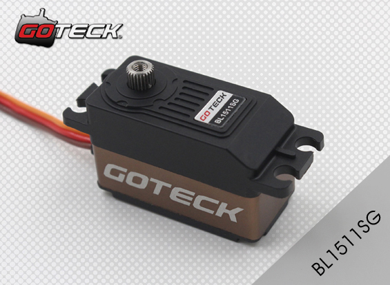 Goteck 10kg-cm 12kg-cm Torque brushless motor BL1511S for RC Car mode/Fixed-wing aircraft/Helicopter cys bls5115 64g 15kg cm alu metal brushless servo for rc heli fixed wing plane