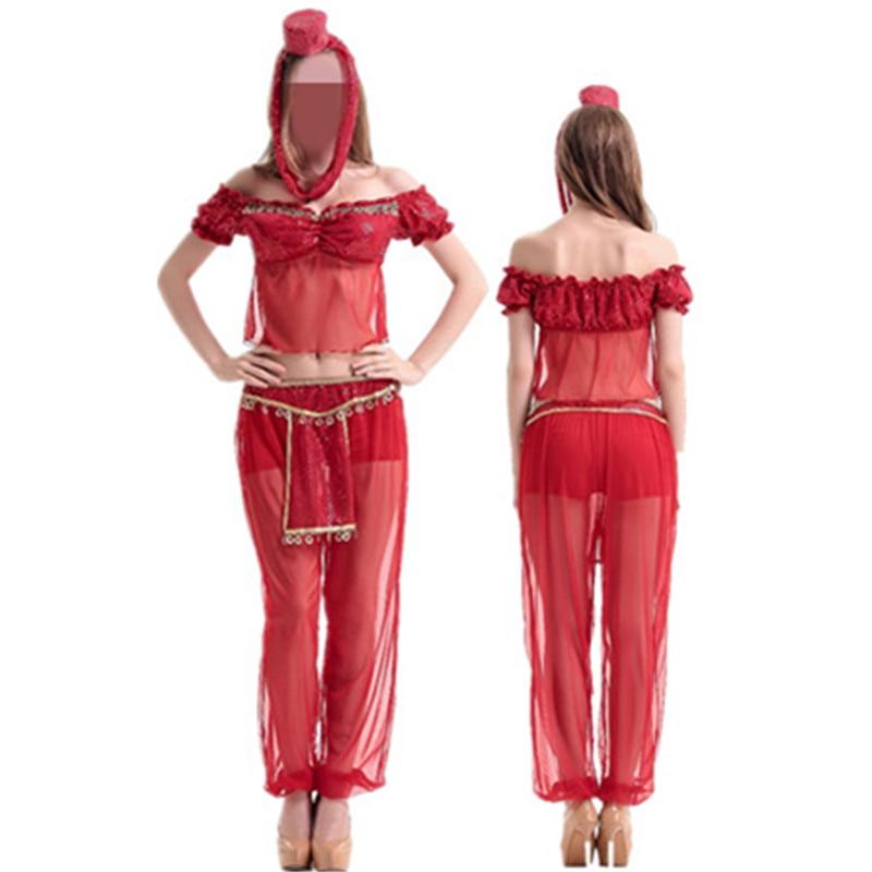2016 Belly Dancer Red Costume Set Bra Skirt Bellydance Costume India Belly Dancer Costume Professional Indian Clothes