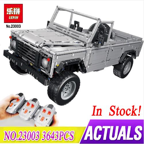New Lepin 23003 Technic series MOC Remote Control Wild off-road vehicle model compatible LegoINGLy Building Blocks toys for Boys new lp2k series contactor lp2k06015 lp2k06015md lp2 k06015md 220v dc