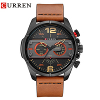 CURREN 2017Men Watch Luxury Brand Army Military Watch Men Leather Sport Watches Quartz Waterproof Wristwatch relogio mascul 8259 2