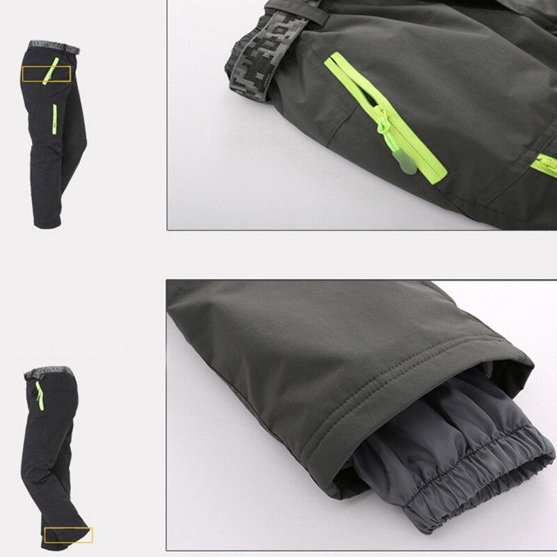 Kids Boys Youth Fleece Lined Windproof Waterproof Hiking Ski Snow Pants Soft Shell Expandable Waist Warm Insulated Trousers