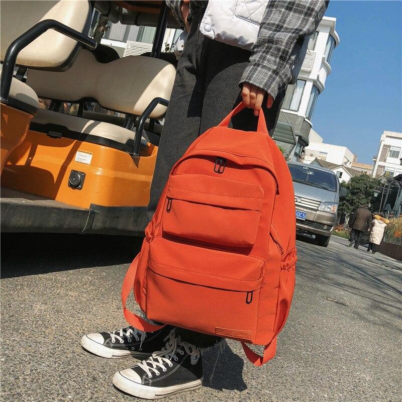 Multi Pocket Travel Waterproof Nylon Backpack for Women