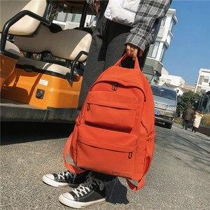Image 2 - DCIMOR جديد مقاوم للماء النايلون على ظهره للنساء متعددة جيب حقيبة ظهر للسفر الإناث حقيبة مدرسية للمراهقات كتاب Mochilas