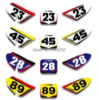 NICECNC Custom Number Plate Background Graphics Sticker & Decal For Honda CRF50 CRF50F 2004 2012 2006 2008 2010 CRF 50 50F