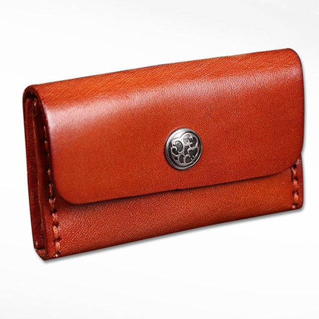 New Men Vintage 100% Genuine Leather Hasp card bag/Coin Purse  ID Card Slot fashion business Mini Wallet for women