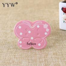 YYW 100pcs High Quality Pink Butterfly Paper Earrings Jewelry Display Cards Holder Earring Display Cards 50*40mm Wholesale 2017