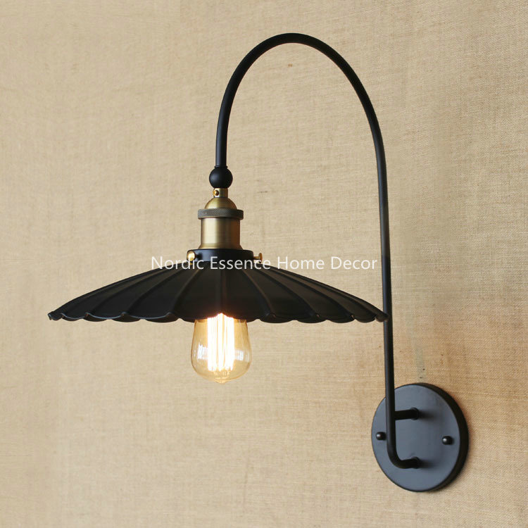 Creative American retro living room hallway bar bistro cafe coffee restaurant decorative wrought iron balcony wall lamp sconce michael kors lexington mk3284