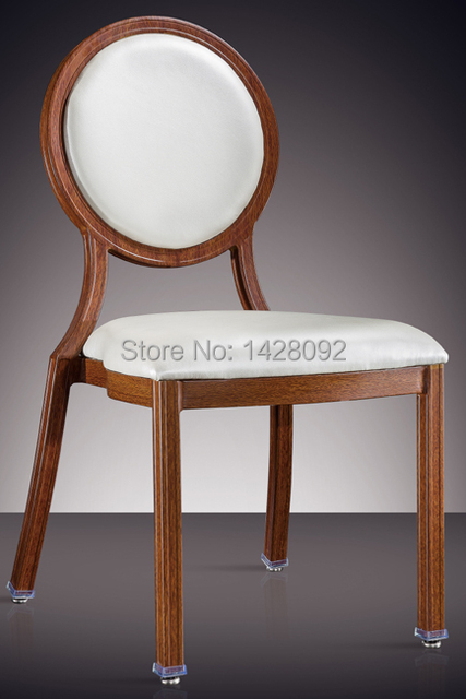 round back woodgrain aluminum hotel chair LQ-L7814