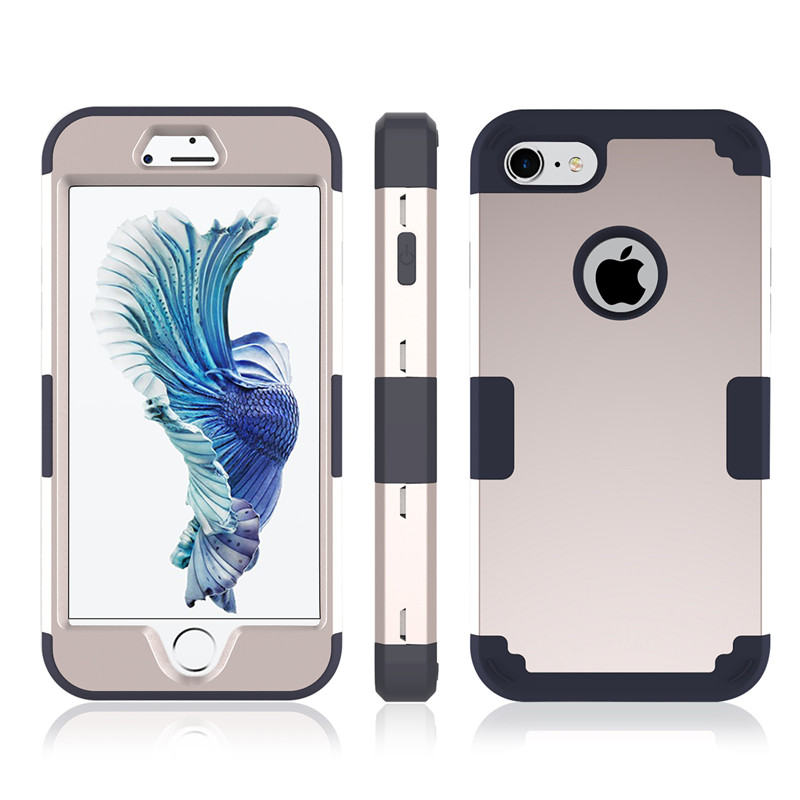 For iPhone7 Case Heavy Duty Hybrid Shockproof Armor Rugged Case For iPhone7Plus Cover Hard PC + Soft Rubber Silicone Phone Cases (37)