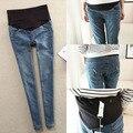 Coreano maternidade Jeans para grávidas gravidez calças Jeans gravidez Elastic calças roupas de maternidade