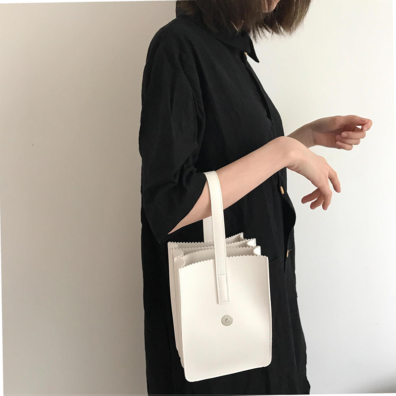 YBYT brand 2018 new simple joker leisure women handbags button hotsale fashion tote bag PU leather vintage casual evening clutch in Top Handle Bags from Luggage Bags