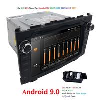 Android 9.0 HD 1024*600 Car DVD Player Radio For Honda CRV 2007 2008 2009 2010 2011 4G WIFI GPS Navigation Head Unit 2 din 2GRAM