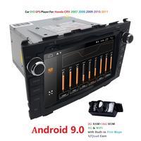 Android 9,0 HD 1024*600 автомобильный dvd плеер радио для Honda CRV 2007 2008 2009 2010 2011 4G wifi gps навигация головное устройство 2 din 2 GRAM