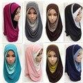 2016 Nova as mulheres árabes muçulmano xale e wraps hijab lenço islâmico