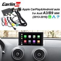 2019 سيارة أبل CarPlay الروبوت السيارات اللاسلكية فك لأودي A3/B9 MMI الأصلي شاشة iOS و عكس صورة التحديثية كيت
