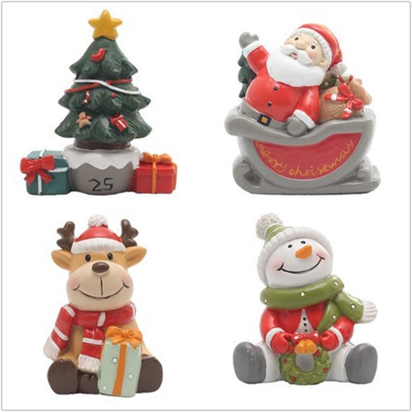 3D Christmas Tree Shape Silicone Christmas Elk Candle Molds Silicone Soap Mold Snowman Cake Molds Christmas Decorations For Home