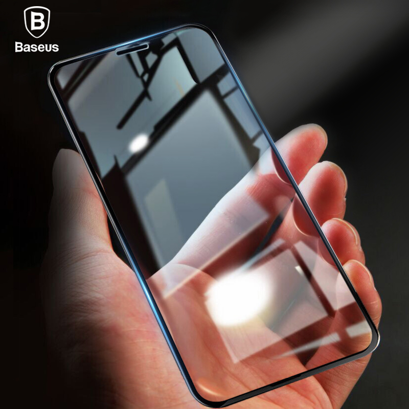 Baseus 0.23mm Screen Protector Tempered Glass For iPhone X 10 PET Edge Curved Full Cover Drop-proof Protective Film For iPhoneX