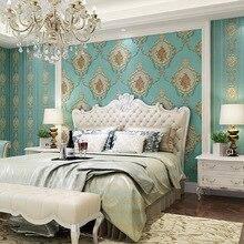 European Rustic Embossed Floral Wallpaper for Walls 3 d Strip Wall Paper Roll for Bedroom Walls Mural papel de parede listrado
