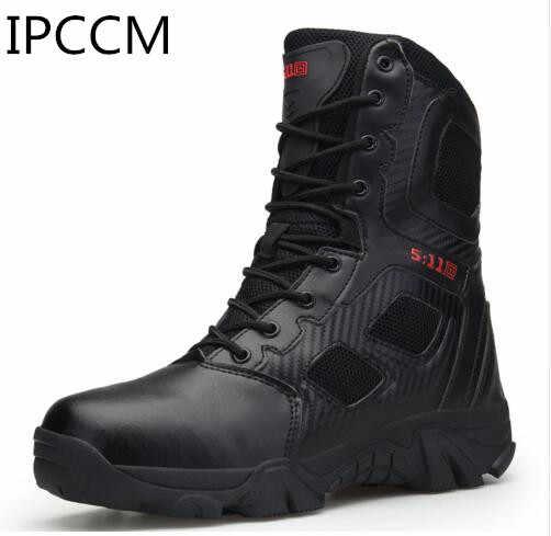 IPCCM/Большие размеры 39-47; Тактические Мужские ботинки в стиле пустыни; износостойкие армейские ботинки; мужские водонепроницаемые походные мужские армейские ботильоны