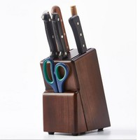 High quality Grade Bamboo Kitchen Knife Holder Wood Multifunctional Holder Knife Kitchen Utensils Storage Rack Knife Rack Suppli