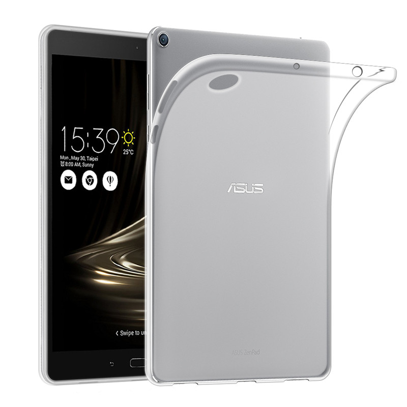 Qosea Pour Coque Asus Zenpad 3 S 10 Z500M Cas Transparent Ultra-mince mince De Mode Silicone Souple Pour 3 S 10 Z500M TPU Cas couverture