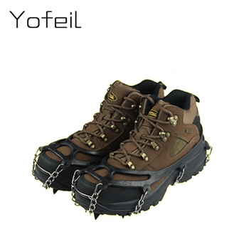 12 Teeth Claw Traction Crampon Anti-Slip Ice Cleats Boots Gripper Chain Spike Sharp Outdoor Snow Walking Climbing Shoes cover