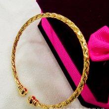 Манжета браслет Твердые ювелирные изделия Желтое золото заполненный