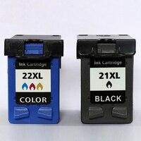 Xiangyu Nachgefüllt Tinte Patrone Ersatz 21 22XL für hp 21 22 patrone für hp 21 Deskjet 3915 3920 D1320 F2100 F2280 F4180-in Tintenpatronen aus Computer und Büro bei
