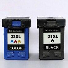 Xiangyu заполняемый картридж для чернил Замена 21 22XL для hp 21 22 картридж для hp 21 Deskjet 3915 3920 D1320 F2100 F2280 F4180