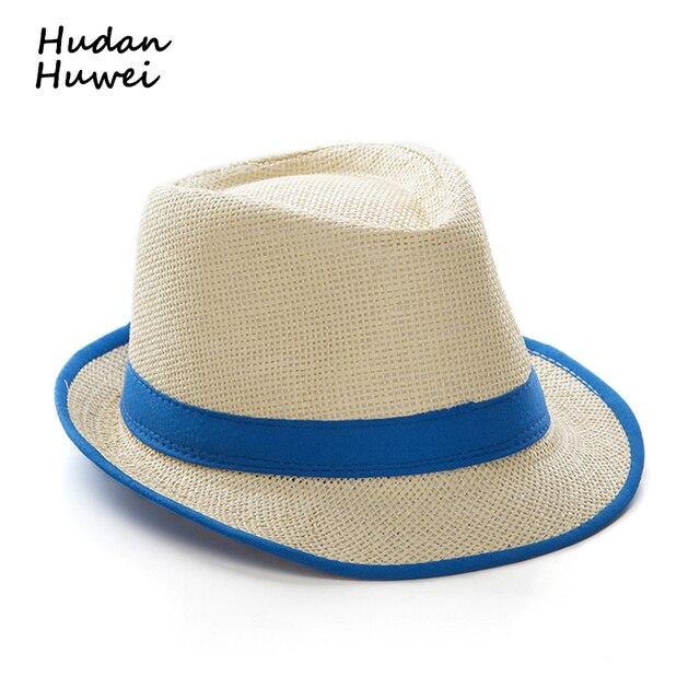 9772343e5e3 Summer paper Straw panama jazz Hat cap Casual Fedoras Outdoor Beach Sunhat  Gangster cap chapeau for men women GH-4