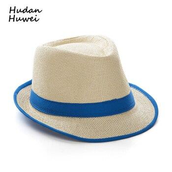 b8c675f9df935 Verano paja panamá jazz gorra sombreros casuales al aire libre playa Sunhat  Gangster cap chapeau para hombres mujeres GH-4