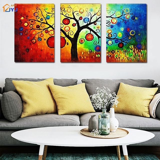Thick Textured Money Tree Painting 100% Handmade Modern Oil Painting ...