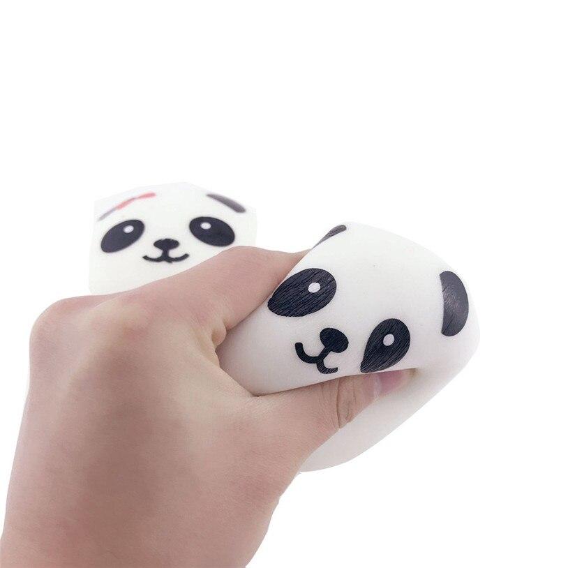 2017 New Funny 1Pc Cute Panda Squishy Cute 10cm Panda Buns Bread Charms Key/Bag/Cell Phone Straps Gifts Fun Gift 30