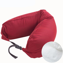 Bed Memory Neck Pillow Elastic Travel Body Pillow Almohada with Solid Color Pillowcase Detachable Washable Body Bedding Pillow