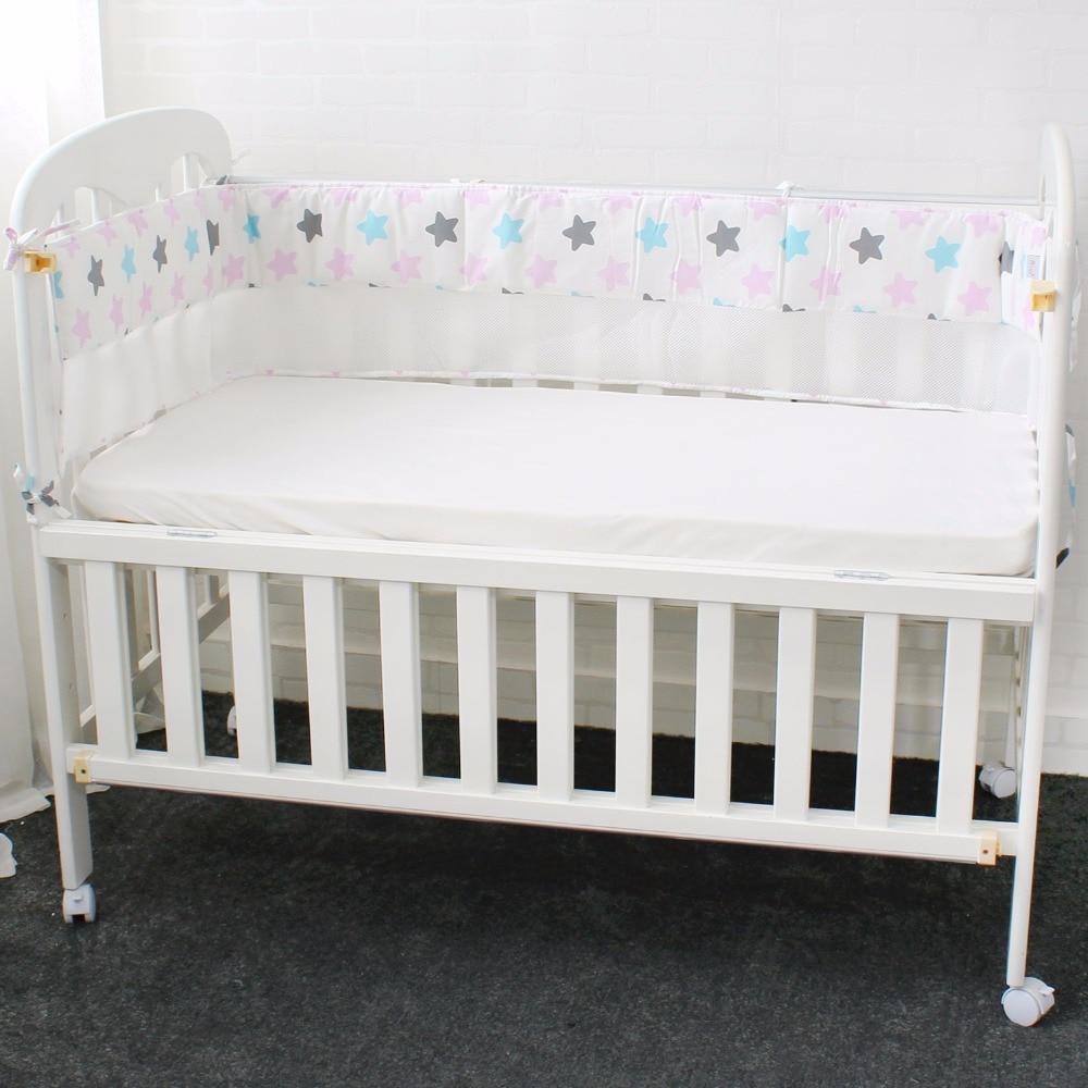 Atmungsaktives Mesh Krippe Stoßstangen Für Sommer Baby Bettwäsche Set Croth Zu Die Bett Protector Für Neugeborene 7 Farbe Länge 200 Cm Kann Wiederholt Umgeformt Werden. Stoßstangen Baby Bettwäsche