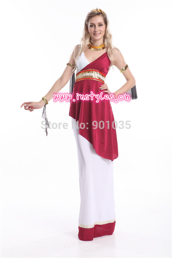 0c08547eda0 FREE SHIPPING S 2XL Ladies Roman Empress Greek Goddess Toga Fancy Dress  Costume on Aliexpress.com