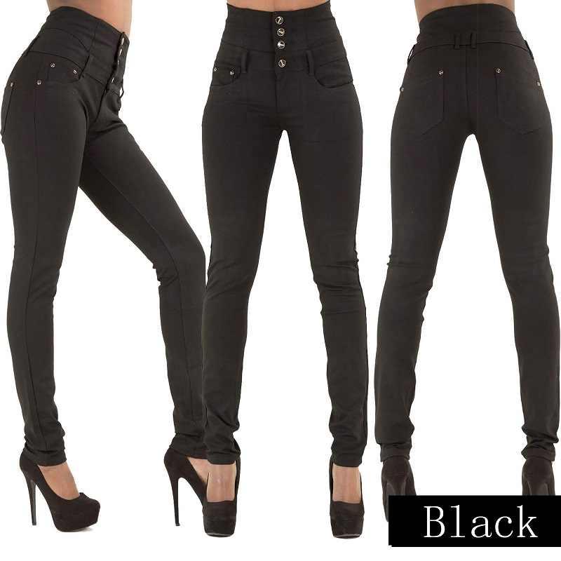 2016 New Arrival Người Phụ Nữ Bán Buôn Denim Quần Bút Chì Thương Hiệu Hàng Đầu Stretch Jeans Quần Eo Cao Phụ Nữ Cao Eo Jeans