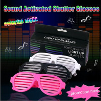 Sound Sensitive Led Flashing Glasses Glow Sunglass Halloween Birth Party Bar Music Voice Light Up Glasses